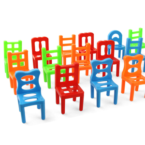 18 Pc Chairs Game Block Balance Toy